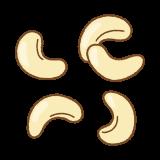 カシューナッツのフリーイラスト Clip art of cashew