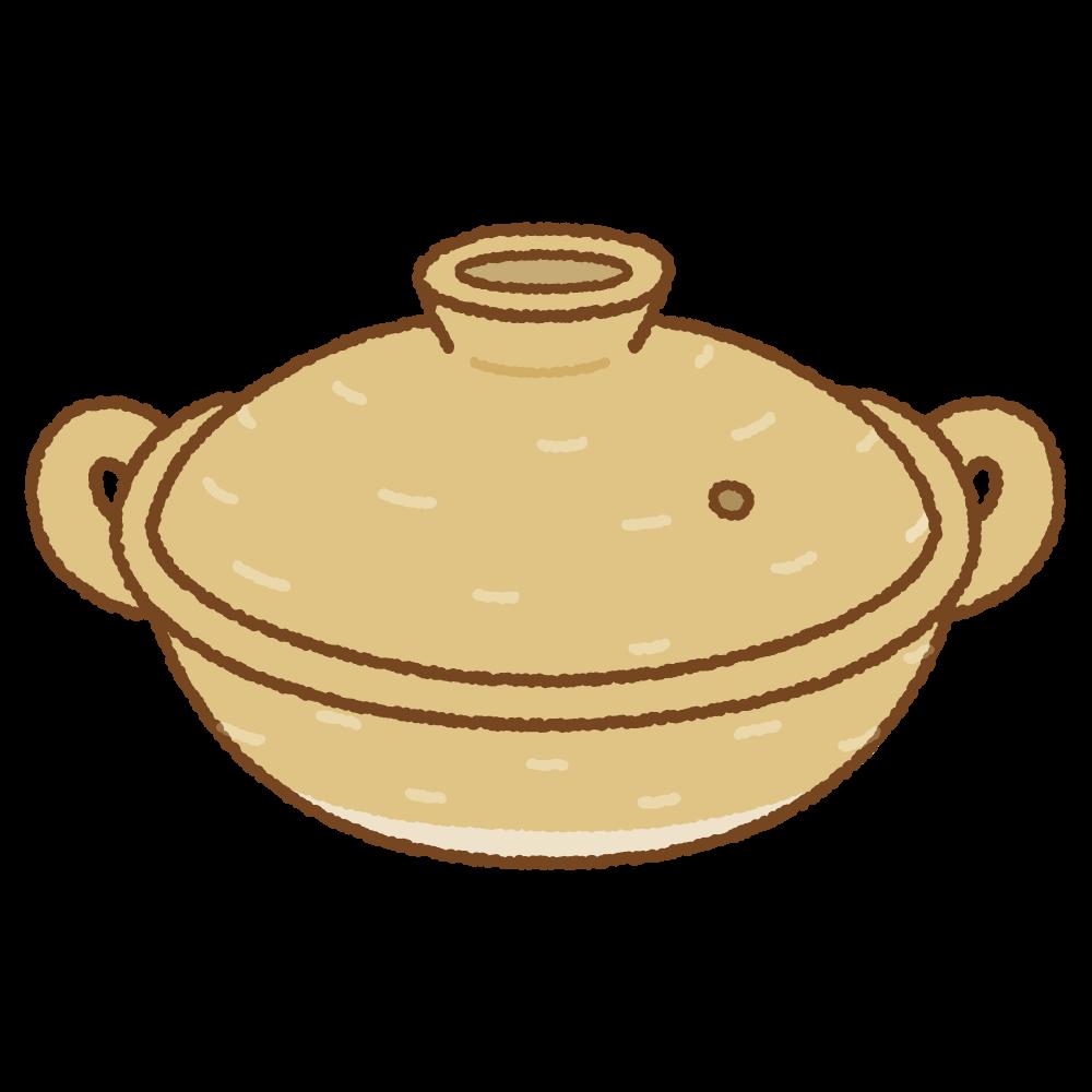 土鍋のフリーイラスト Clip art of donabe