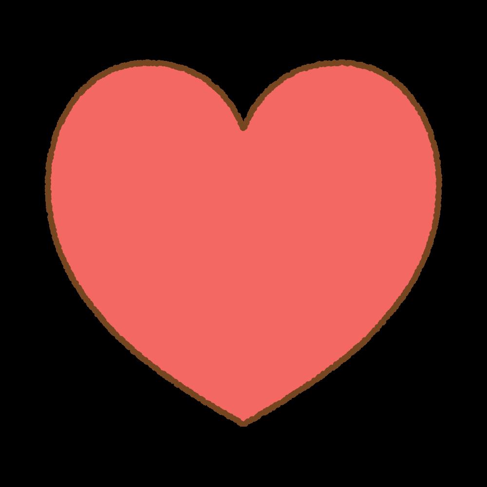 ハートマークのフリーイラスト Clip art of heart mark