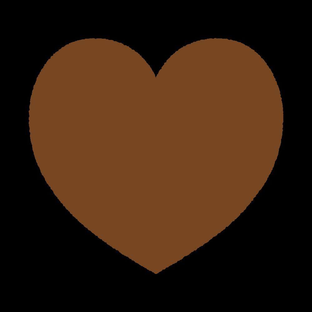 ハートのシルエット Silhouette heart brown