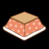コタツのフリーイラスト Clip art of kotatsu