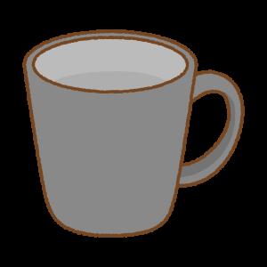 黒いマグカップのフリーイラスト Clip art of black mug