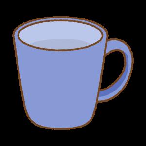 青のマグカップのフリーイラスト Clip art of blue mug