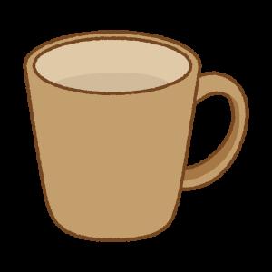 茶色のマグカップのフリーイラスト Clip art of brown mug