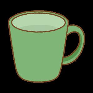緑のマグカップのフリーイラスト Clip art of green mug