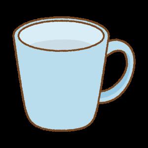 水色のマグカップのフリーイラスト Clip art of light-blue mug