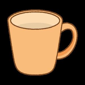 オレンジのマグカップのフリーイラスト Clip art of orange mug