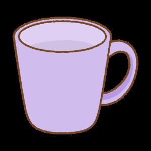 紫のマグカップのフリーイラスト Clip art of purple mug