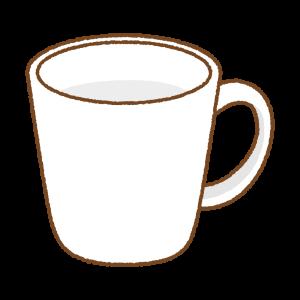 白いマグカップのフリーイラスト Clip art of white mug
