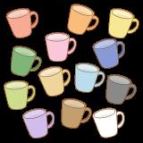 マグカップのフリーイラスト Clipart of mugs