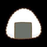 おにぎりのフリーイラスト Clip art of onigiri