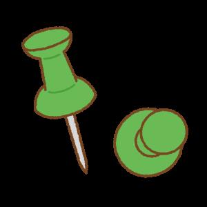 画鋲のフリーイラスト Clip art of pushpin