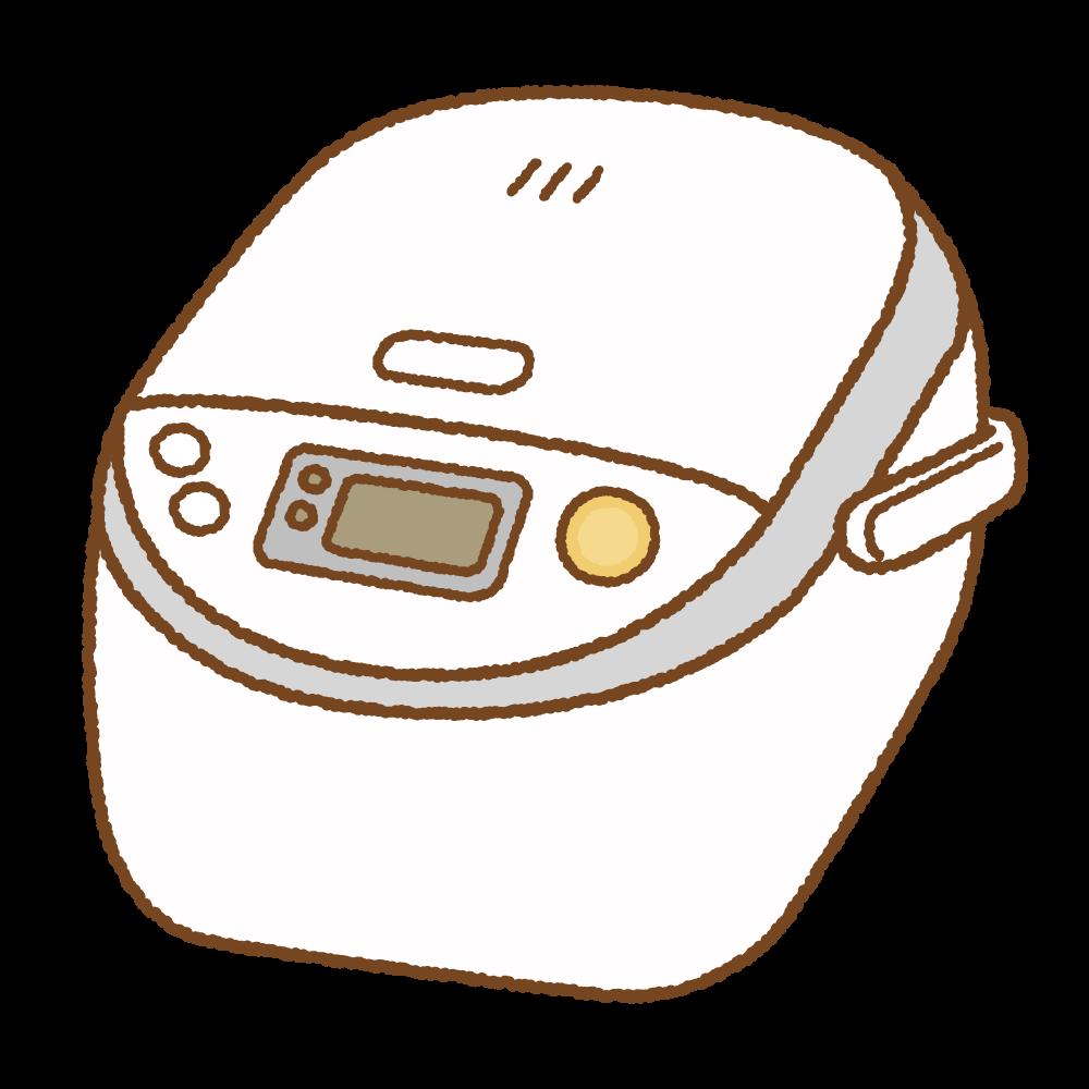 炊飯器のフリーイラスト Clip art of rice-cooker