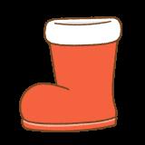 サンタブーツのフリーイラスト Clip art of santa-claus-boots