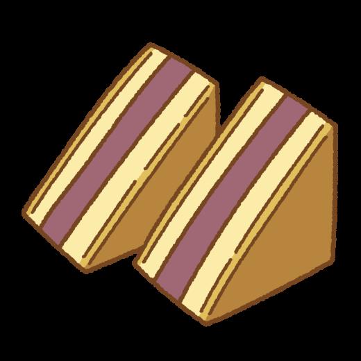 シベリア(お菓子)のイラスト