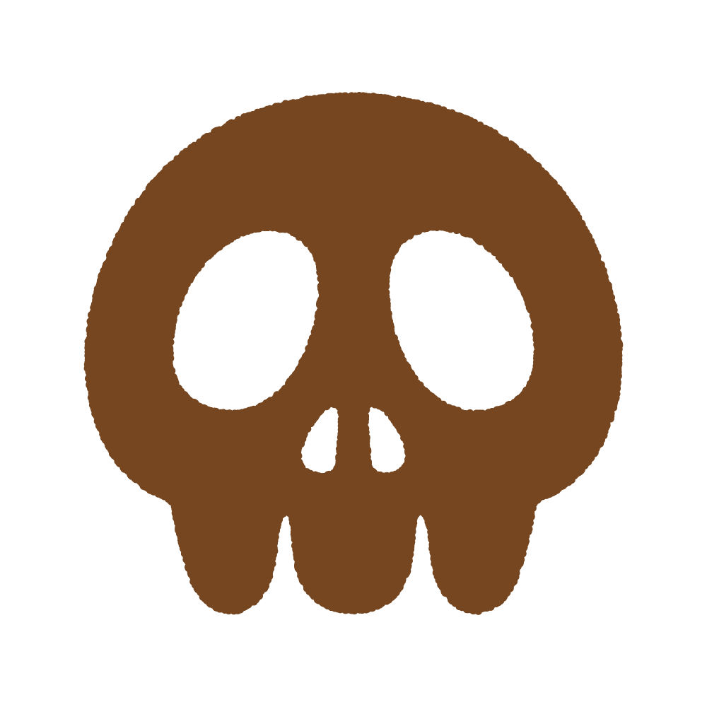 ドクロのシルエット Clip art of skull silhouette