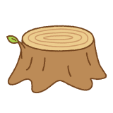 切り株のフリーイラスト Clip art of stump