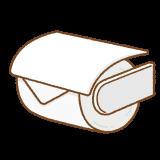 トイレットペーパーホルダーのイラスト