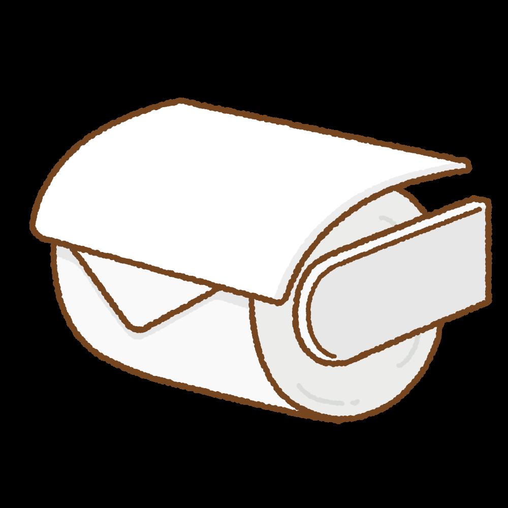 トイレットペーパーホルダーのフリーイラスト Clip art of toilet-paper-holder