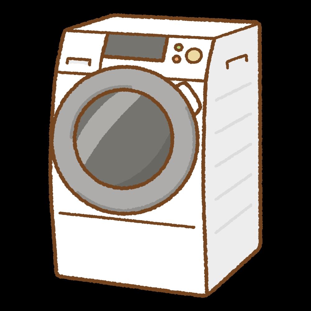ドラム式洗濯機のフリーイラスト Clip art of washing-machine-drum