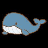 クジラのフリーイラスト Clip art of whale