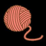 赤い毛糸玉のフリーイラスト Clip art of red yarn