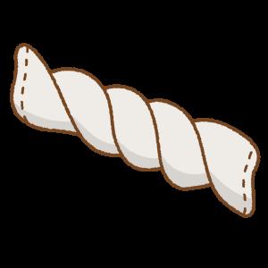 しぼった雑巾のフリーイラスト Clip art of zoukin