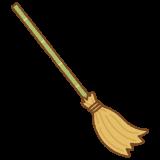 竹箒のフリーイラスト Clip art of bamboo-broom