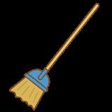 ほうきのフリーイラスト Clip art of broom