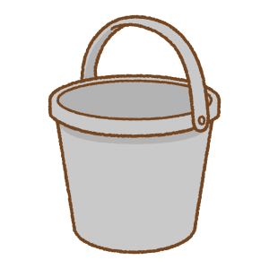 バケツのフリーイラスト Clip art of bucket