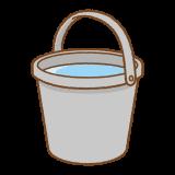 水が入ったバケツのフリーイラスト Clip art of bucket water