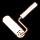粘着カーペットクリーナーのフリーイラスト Clip art of carpet-roller