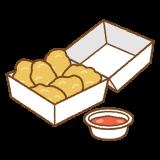 チキンナゲットのフリーイラスト Clip art of chicken-nugget
