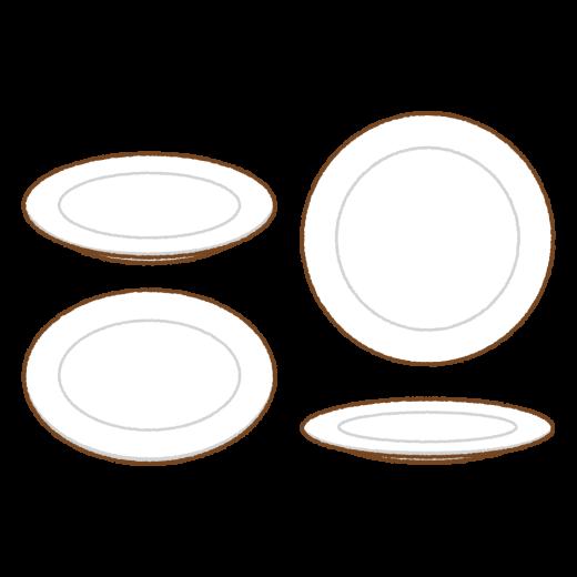 皿のイラスト