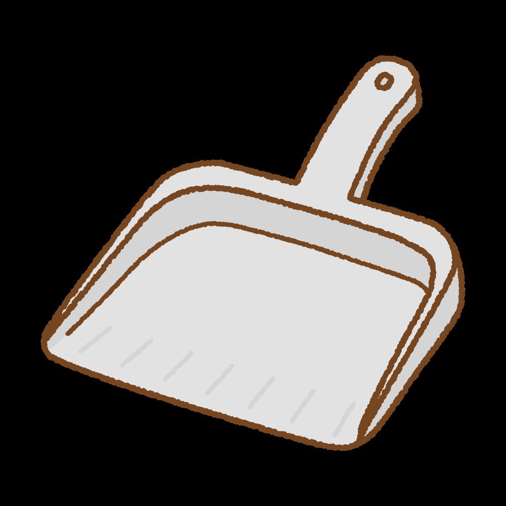 ちりとりのフリーイラスト Clip art of dustpan