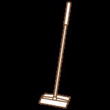フローリングワイパーのフリーイラスト Clip art of flooring-wiper