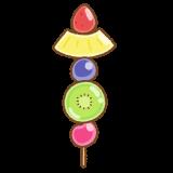 フルーツ飴のフリーイラスト Clipart of fruit-candy