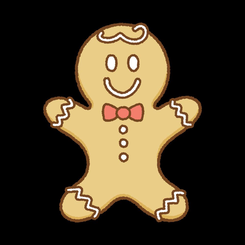 ジンジャーブレッドマンのフリーイラスト Clip art of gingerbread man