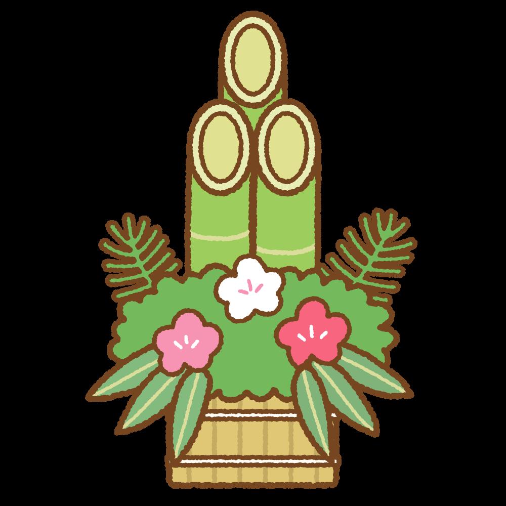 門松のフリーイラスト Clip art of kadomatsu