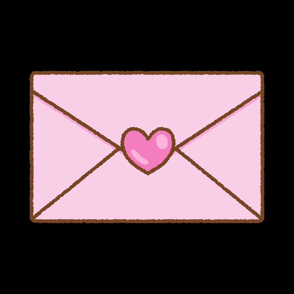 ラブレターのフリーイラスト Clip art of love-letter