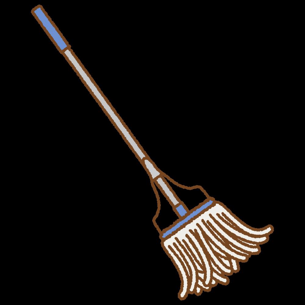モップのフリーイラスト Clip art of mop