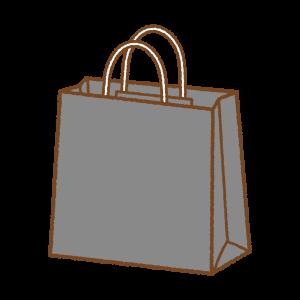 黒い紙袋のフリーイラスト Clipart of black paper-bag