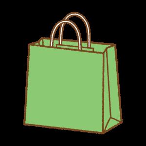 緑の紙袋のフリーイラスト Clipart of light-green paper-bag