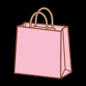 ピンクの紙袋のフリーイラスト Clipart of pink paper-bag