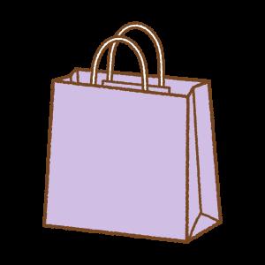 紫の紙袋のフリーイラスト Clipart of purple paper-bag