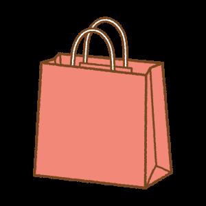 赤い紙袋のフリーイラスト Clipart of red paper-bag