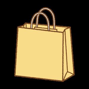 黄色い紙袋のフリーイラスト Clipart of yellow paper-bag