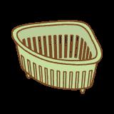 三角コーナーのフリーイラスト Clip art of sankaku-corner