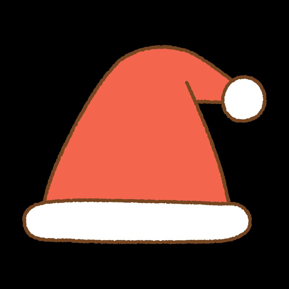 サンタ帽のフリーイラスト Clip art of santa cap