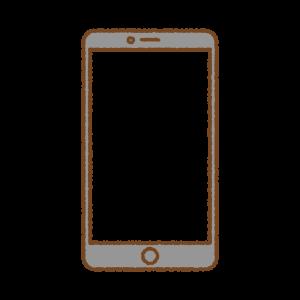 スマートフォンのフリーイラスト Clipart of smartphone